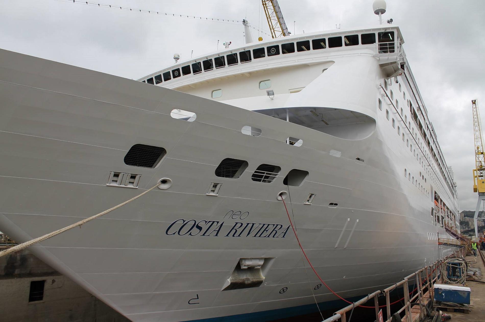 Restyling e manutenzione per 3 navi costa pazzo per il for Costa neoriviera piano nave