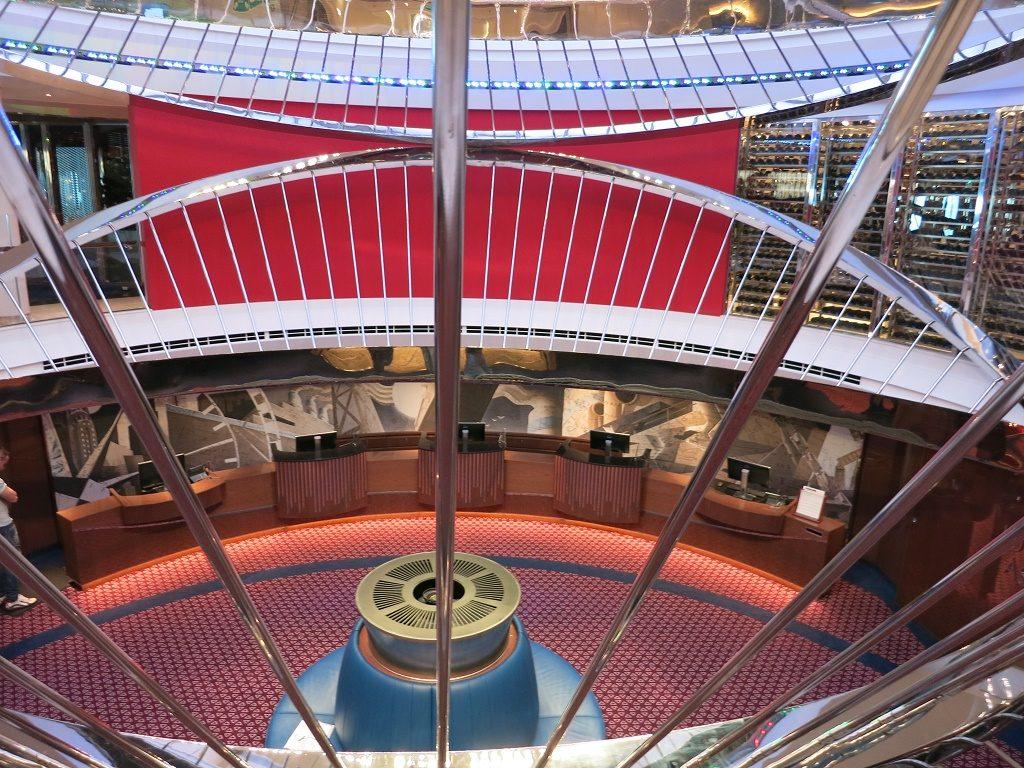atrium koningsdam cruise ship
