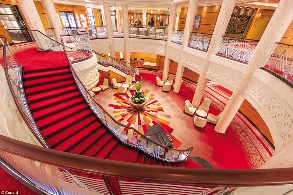 atrium queen mary 2 remastered cruises